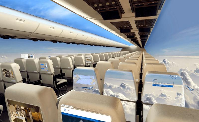 طائرات بلا نوافذ في غضون 10 سنين