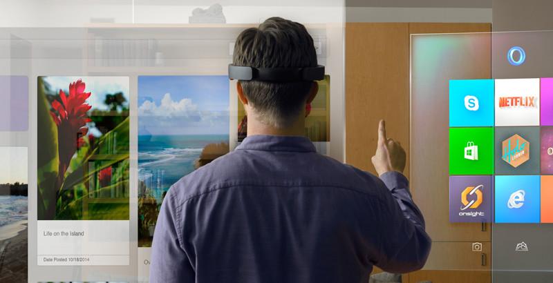 نظارات مايكروسوفت الجديدة تدمج الحقيقة مع الخيال