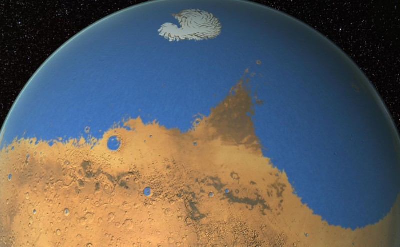 هل احتوى المريخ  يوماً ما على مياه أكثر من الأرض؟