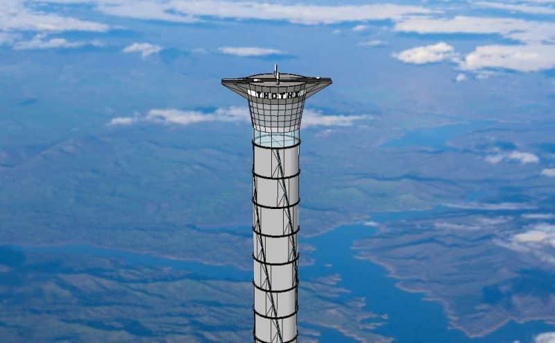مصعد فضائي سيحمل رواد فضاء إلى إرتفاع 12 ميل فوق سطح الأرض دون الإستعانة بالصواريخ