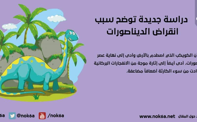 دراسة جديدة توضح سبب انقراض الديناصورات