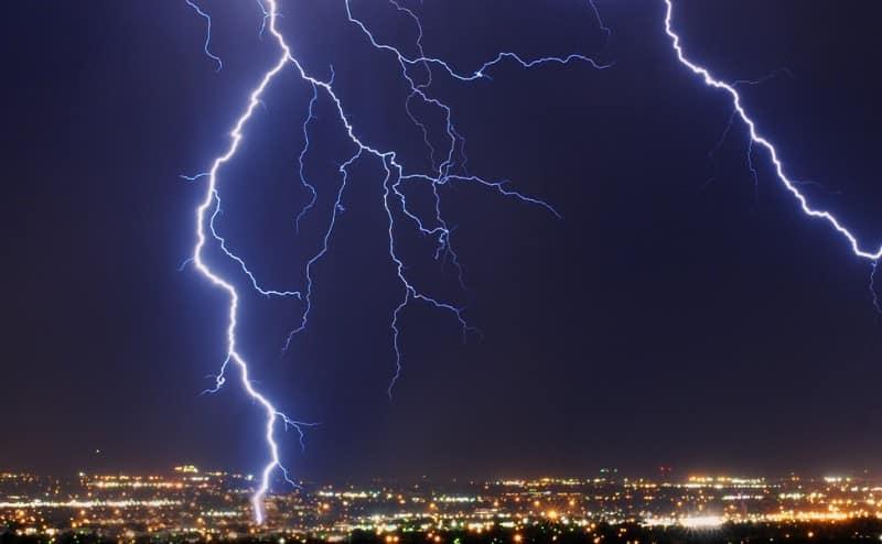 البرق و الرعد