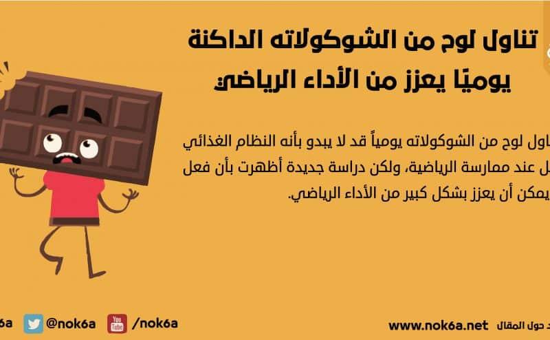 تناول لوح من الشوكولاته الداكنة يوميًا يعزز من الأداء الرياضي