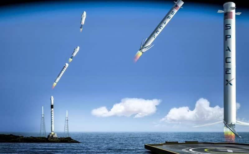 أخيراً، هبوط صاروخ (سبيس اكس) القابل لإعادة الاستخدام بنجاح على متن المنصة البحرية