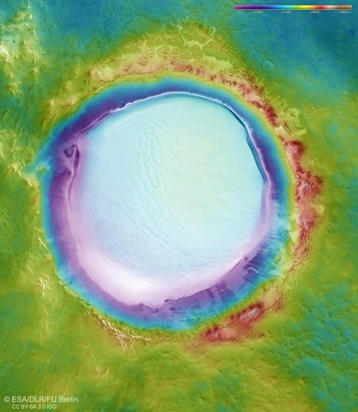 جليد على سطح المريخ