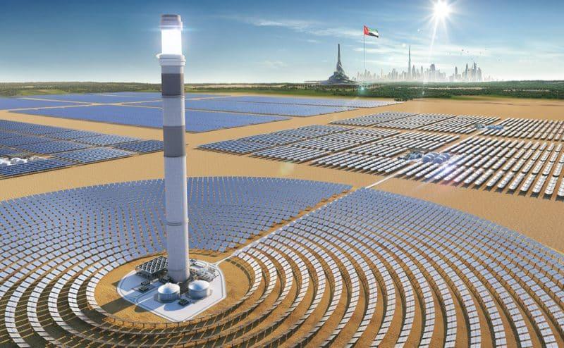 مجمع محمد بن راشد آل مكتوم للطاقة الشمسية مشروع طموح تكلف 13.6 مليار دولار