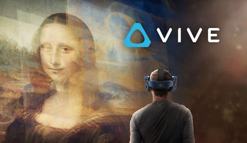 لوحة الموناليزا بتقنية الواقع الافتراضي في متحف اللوفر