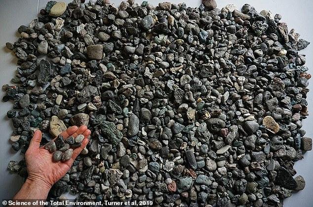 """العثور على بقايا بلاستيك على شكل""""صخور وحصى"""" على الساحل البريطاني"""