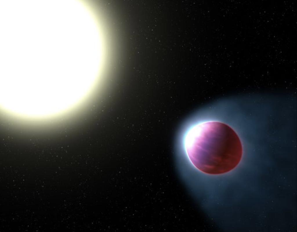 صورة تخيلية توضح شكل الكوكب WASP-121b. الحقوق: ناسا.